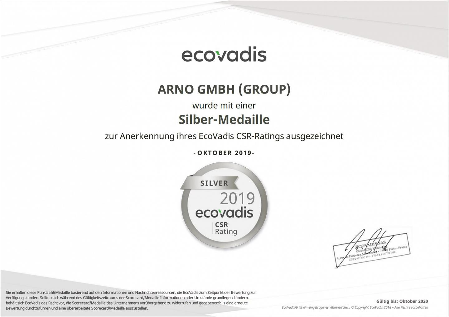 Silver Medal for CSR activities