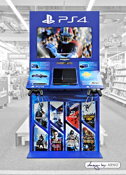In-Store Solutions Sony Playstation 4 Display