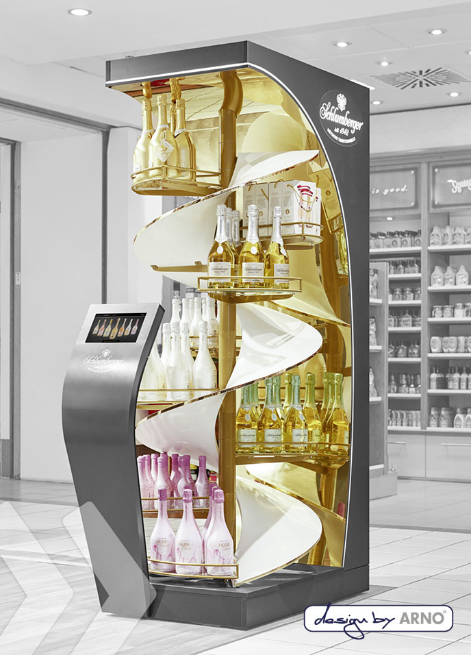Marketing Display for Drinks, Bottles, Wine, Champagne